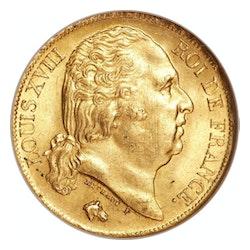 20 Francs - Louis XVIII- front