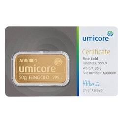 20 gram goud met certificaat