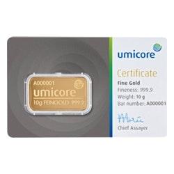 10 gram goud certificaat